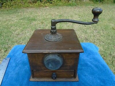 Antique Vintage Wood Coffee Grinder Mill Dove Tail Cavanagh Bros PITTSBURGE PA