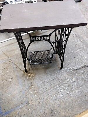 Singer Sewing Machine Table from vintage base stone top