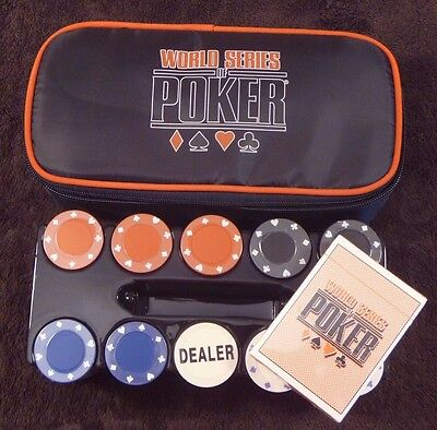 NEW - World Series Of Poker WSOP Poker Chip Set of 200 with Cards and Carry Bag