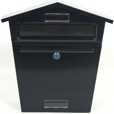 Lockable Post Letter Mail Box Postbox Mailbox Metal Wall Mounted Outside Outdoor
