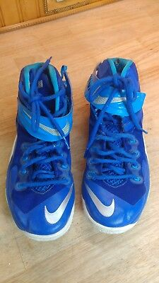 new concept 04483 e5545 AUTHENTIC NIKE ZOOM SOLDIER VIII TB 653648 404 GAME ROYAL mens SZ 8.5 LEBRON