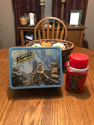 Vintage Star Wars THE EMPIRE STRIKES BACK 1980 Lunchbox & Thermos