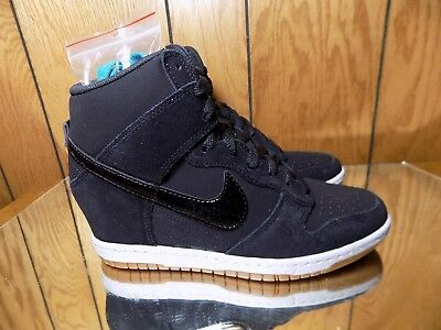 premium selection ba97c 41b5a ... wedge high top womens black white gum cabfb 067e8  official wmns nike  dunk sky hi essential 644877 011 size 7.5 6ce47 7cef3