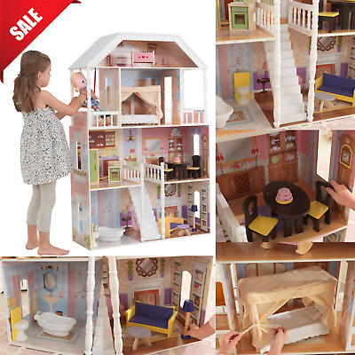 S Toys Wooden Dollhouse Furniture Kidkraft Doll House Barbie Playhouse Gifts