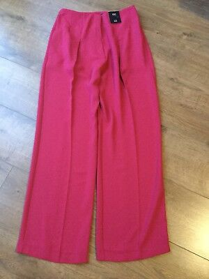 M/&S Ladies Black Bootleg Low Rise Tailored Trousers Size 16 BNWOT Work Smart
