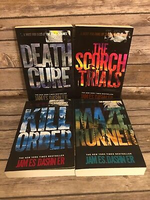 Maze Runner series By James Dashner  softcover Books 4 Book Lot