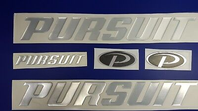 "PURSUIT boat Emblem 20"" chrome + FREE FAST delivery DHL express - stickers decal"