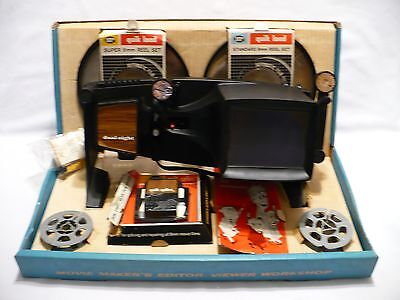 VTG HUDSON PHOTOGRAPHIC DUAL 8mm MOVIE MAKERS EDITOR VIEWER WORKSHOP BOX