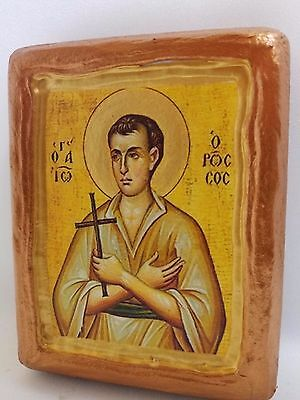 Saint John The Russian Rare Byzantine Greek Orthodox Church Icon