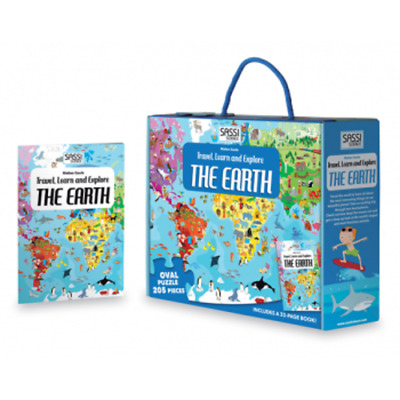 Sassi Travel, Learn and Explore - The Earth Puzzle, 205 pieces