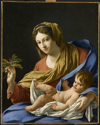 """Old Master-Art Antique Oil Painting art Virgin Mary on canvas 30""""X40"""""""