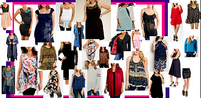 Lot Wholesale Ladies Womens Clothes 1X 2X 3X  Plus Size..30 Items! Great Gift!