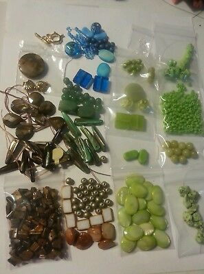 Large Lot Of Mixed Assorted Beads-Findings- Jewelry Making Supplies