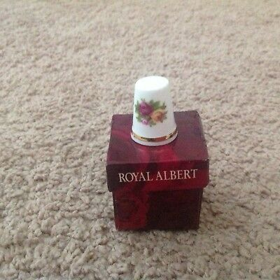 Royal Albert Old Country Roses  SEWING THIMBLE - NEW WITH BOX