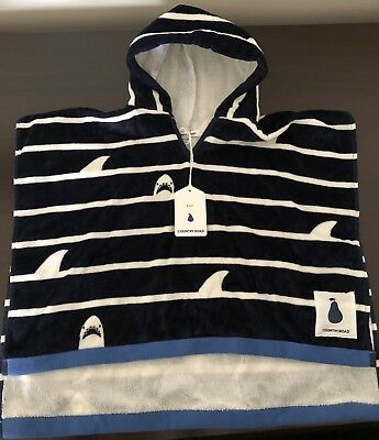 Country Road Shark Stripe Poncho Size XS
