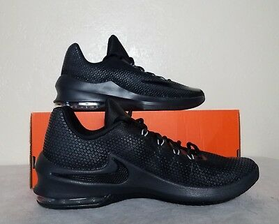 new concept d89e1 a1c3d New Nike Air Max Infuriate Low Black Men Size 10 Basketball Shoe 852457-001