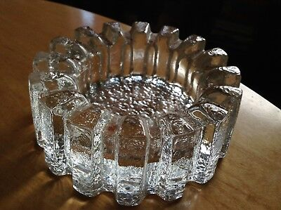 Vintage Art Glass Bowl Or Ashtray. Retro Mid Century Scandinavian