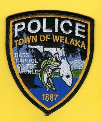 """Welaka Police Department Patch ~ Florida ~ """"bass Capitol Of The World"""" ~ Awesome"""