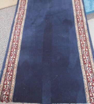 Hallway Runner Carpet Rug Blue Wool 67cm Estate Per Metre Floor Rugs New Hall