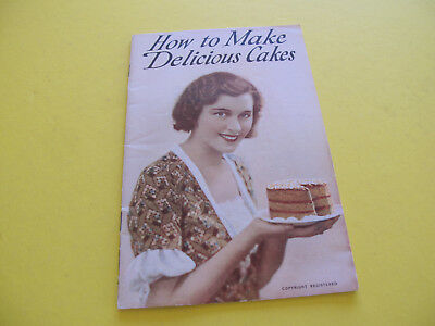 How to Make Delicious Cakes Recipe Booklet Bushells Pure Coffee Advertisement