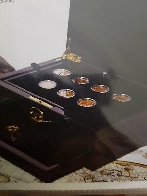 Seven historic gold coins of Europe  gorgeous
