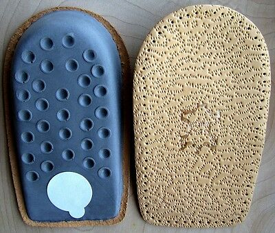 1 Pair 1.5cm Leather Orthotic Heel Insoles  Lift/Support Insert For Men & Women