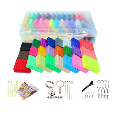 (500g Paper Box Package) - XuBa Nontoxic 24 Colours Polymer Clay Diy Malleable