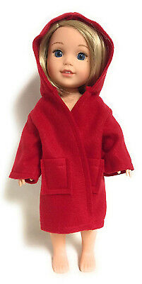 Red Hooded Robe for 36cm American Girl Wellie Wisher Doll Clothes. Free Shipping