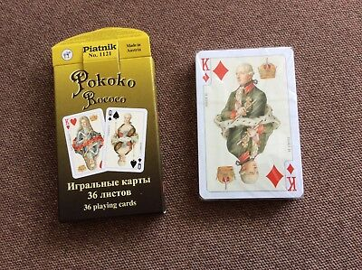 Russian PLAYING CARDS 36 Cards Deck ROCOCO made in Austria PIATNIK