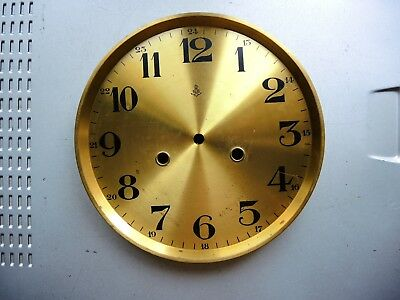Antique German wall clock Gustav Becker BRASS DIAL with mount JUNGHANS PARTS GB