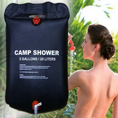 20L Foldable Solar Energy Heated Camp Pvc Shower Bag Outdoor Camping Water Bags