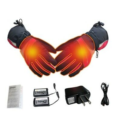 Outdoor Thermal Electric Warm Heated Gloves Waterproof Winter Hand Warmer Mitten