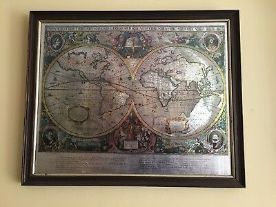 A Large vintage Chromite map of world