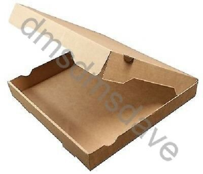 Brown Plain Pizza Boxes Takeaway Pizza Box Strong Postal Boxes 7 - 12 Inch