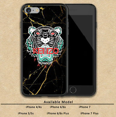 super popular 0db71 536f6 KENZO TIGER GOLD Marble Print Plastic Case iPhone 5s 6s 7 8 X XS Max XR  (Plus)