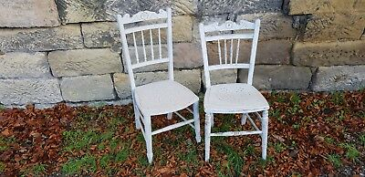 Very Pretty Antique Painted Edwardian Chairs Near Match In Good Condition