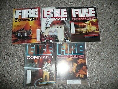LOT OF 5 FIRE COMMAND MAGAZINES from 1984 Fire Fighter