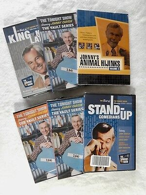 Johnny Carson - The Tonight Show Classics - Lot Of 6 Sealed Dvd's