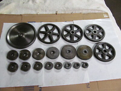 "Set Of Feed Change Gears For Brown & Sharpe ""o"" & Og Screw Machine (19) Gears,"