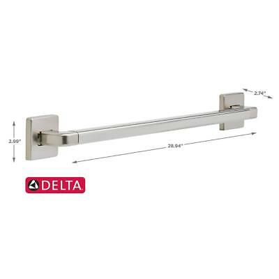 Delta Modern Angular 24 in. x 1-1/4 in. Decorative Grab Bar in Stainless