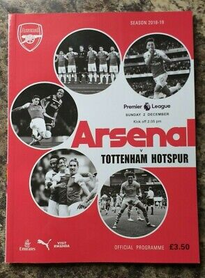 Arsenal v Tottenham Hotspur (Spurs) 4:2 Official Emirates Programme 2nd Dec 2018