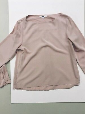 8f84cc8113bc4e UNIQLO (long sleeve) Shirt Top  pale-pink nude  Size M