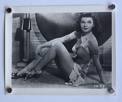 c1940 ORIGINAL Sepia PHOTO~Glamorous Pinup Sitting on Floor