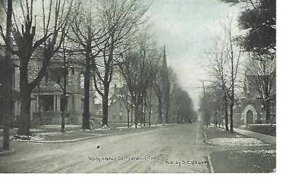 Franklin Indiana North Water Street Postcard IN