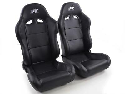 FK Sportsitze Auto Halbschalensitze Set Racing in Motorsport-Optik