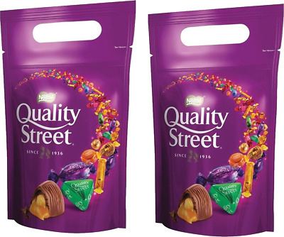 2 Quality Street Chocolates Pouch Packet x2 500g l CHRISTMAS SANTA GIFT STOCKING