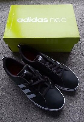 Adidas 9 Neo Leather Lth Size Pace Trainers Mens Black Vs White amp; qTnaxPS