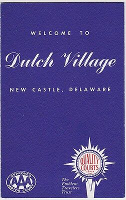 1950's Dutch Village Motel New Castle Delaware Brochure