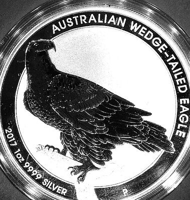 3 x 1 oz - Silber - Wedged Tailed Eagle 2017 - Limitiert 62.671 St. - 9999er **