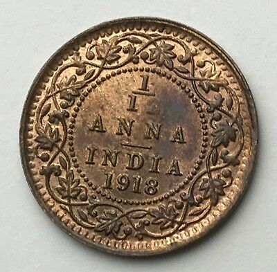 Dated : 1918 - India - One Twelfth Anna - 1/12 Anna Coin - King George V